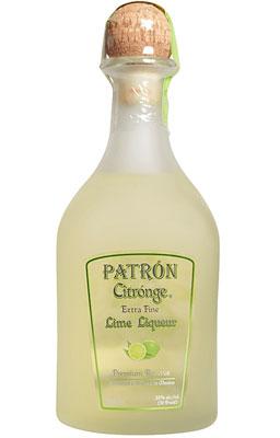 Patron Citronge Lime Liqueur Glass Bottle