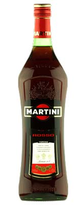 Martini Rosso Vermouth Bottle